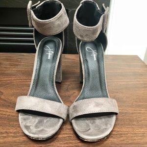Shoes - Suede Block Heels